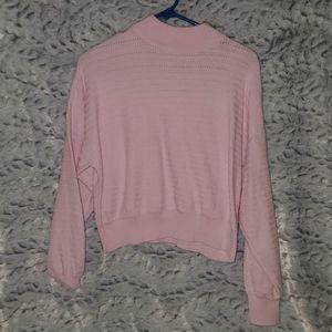 F21 slight turtle neck cropped knit sweater
